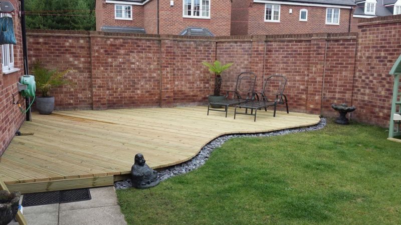 large Curved decking area