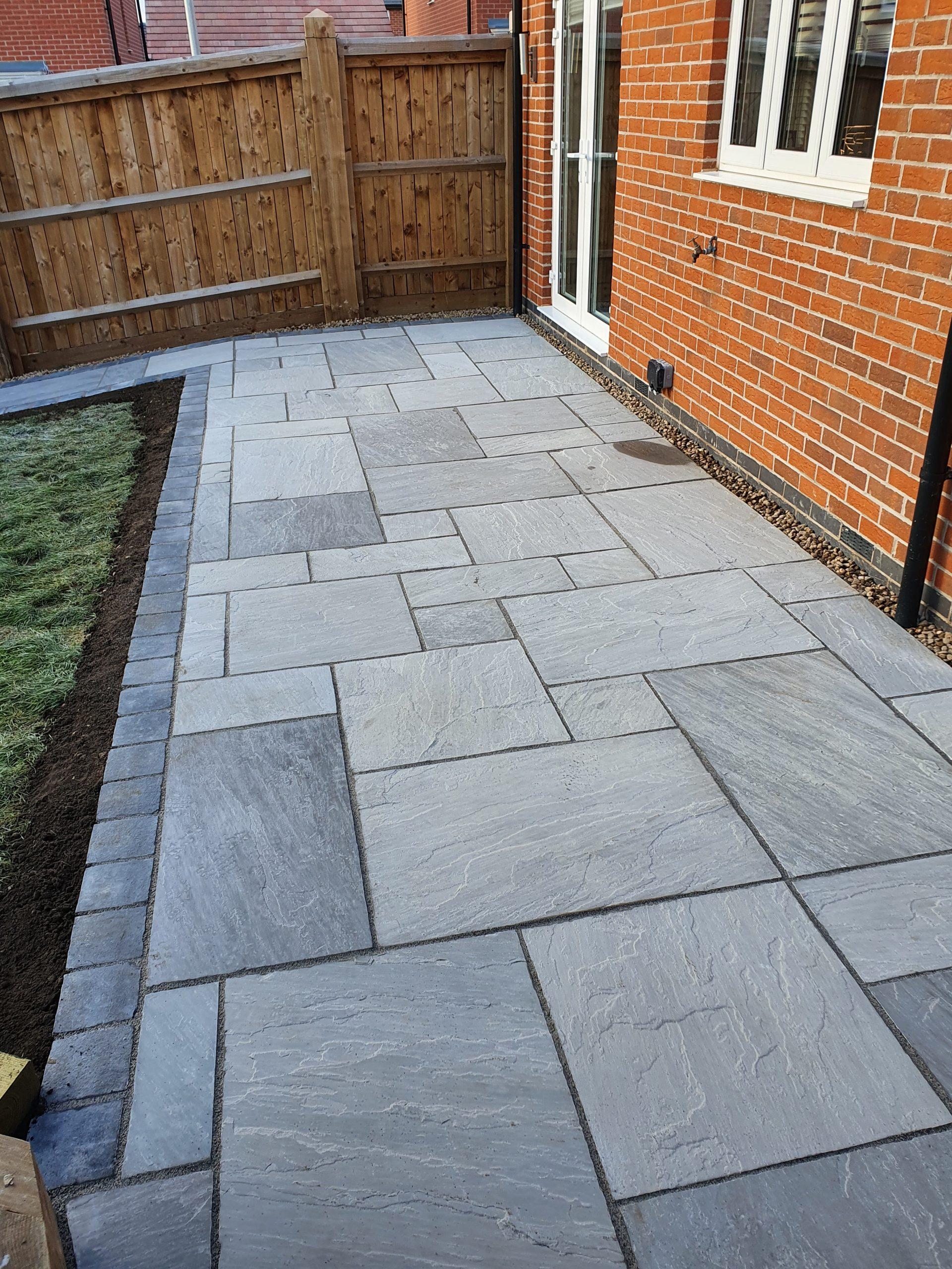 grey patio slabs