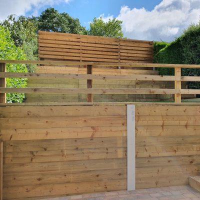 Complete new tiered garden renovation