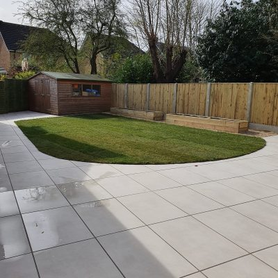 Porcelain paving and fencing